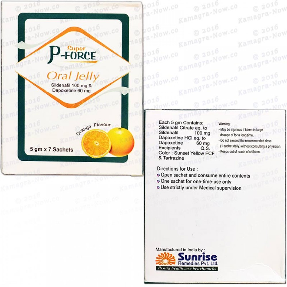 Super P-Force Jellies 100mg Sildenafil + 60mg Dapoxetine (20 Sachets)