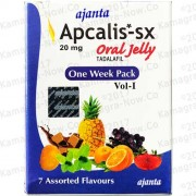 Apcalis Jelly (Cialis 20mg) Tadalafil. X7 Sachets
