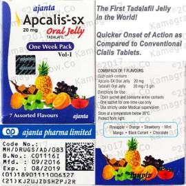 Apcalis Jelly (Cialis 20mg) Tadalafil X 60 Sachets