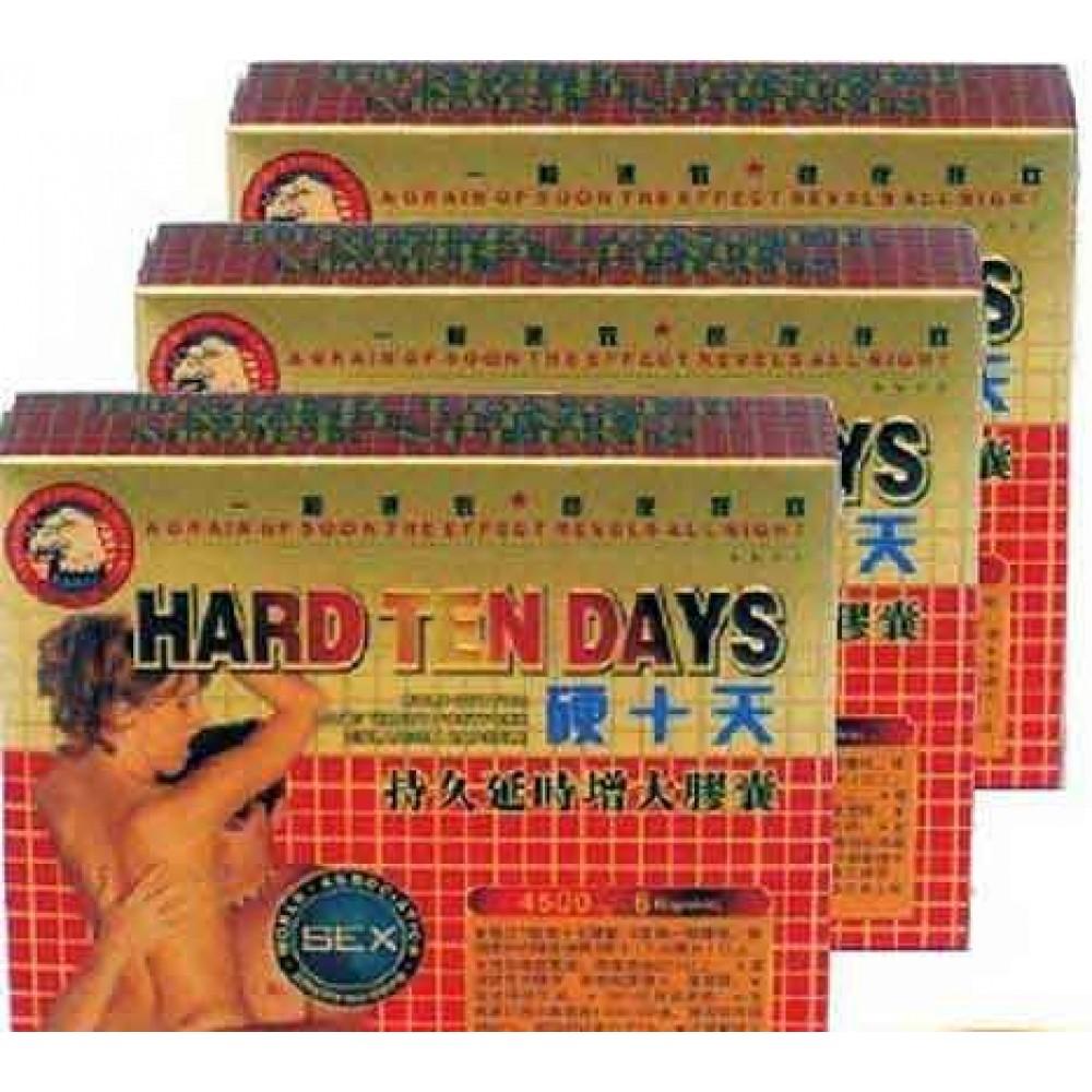 Hard Ten Days 4500mg Herbal sex Pill UK  (6 capsules/box)