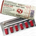 SILDALIST-120  Sildenafil 100mg + Tadalafil 20mg (6 tablets)
