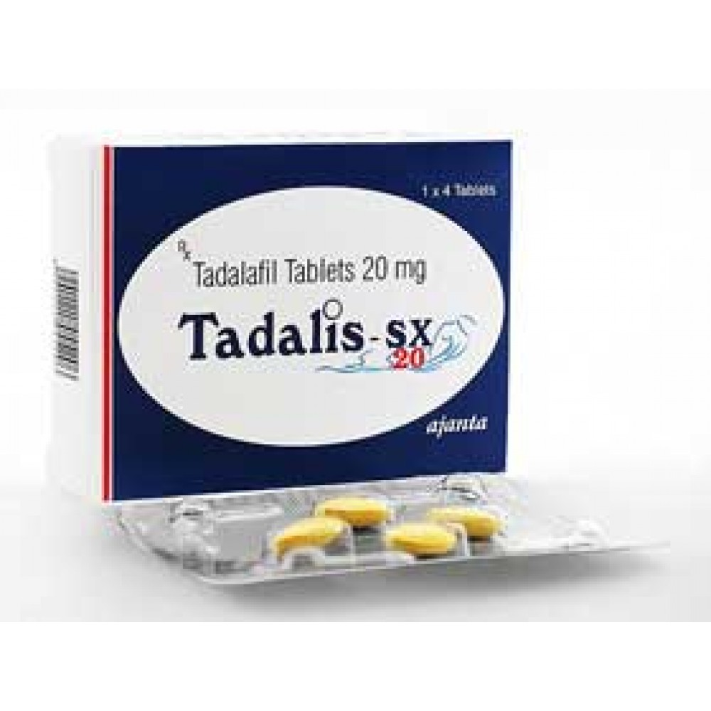 Tadalis Sx 20mg X8 Tablets Best Cialis From The Giant Ajanta Pharma