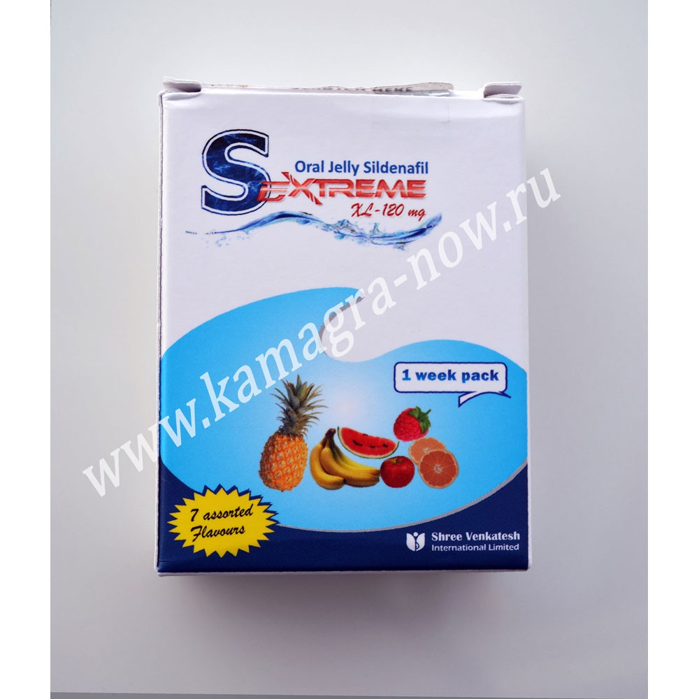 Sextreme Oral Jelly 120mg Sildenafil X 30 Sachets