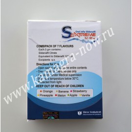 Sextreme Oral Jelly 120mg Sildenafil X 20 Sachets