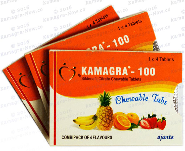 Kamagra Soft - Fast Acting Chewable tablets (Sildenafil 100mg)